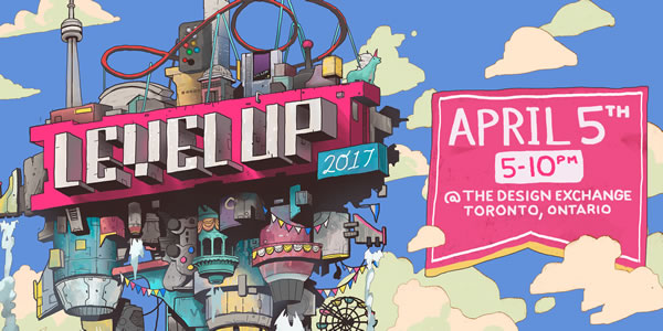 Level Up 2017 student game design showcase at the Design Exchange April 5