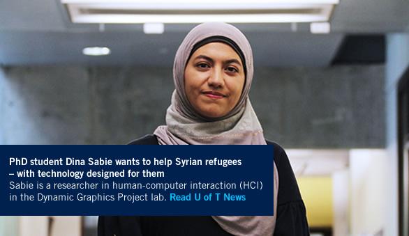 PhD student Dina Sabie