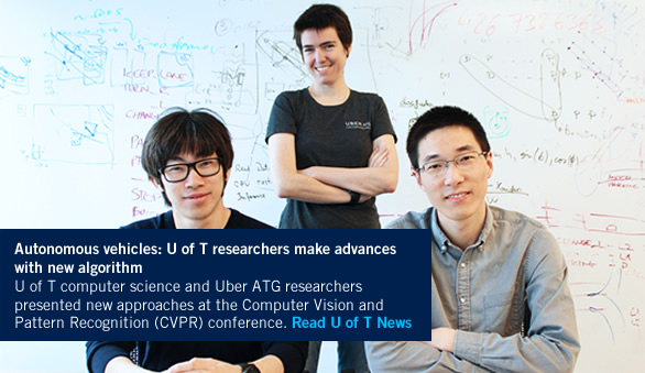 U of T computer science and Uber ATG