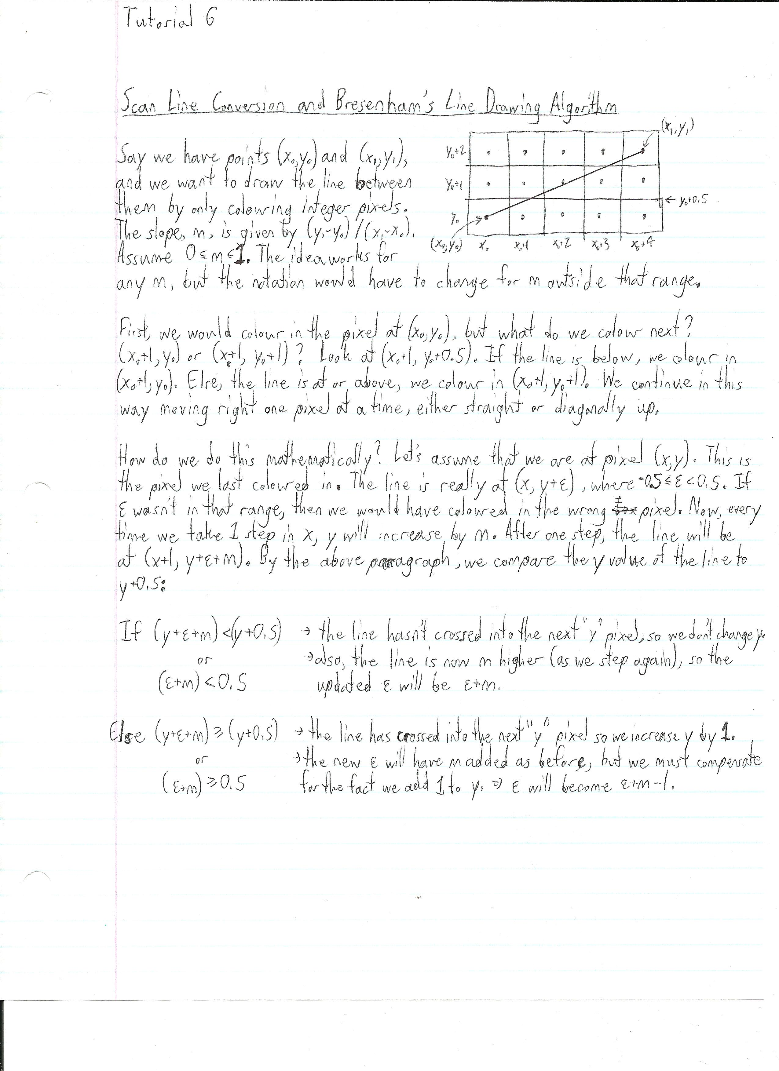 Bresenham Line Drawing Algorithm Lecture Notes : Liviu mihai calin
