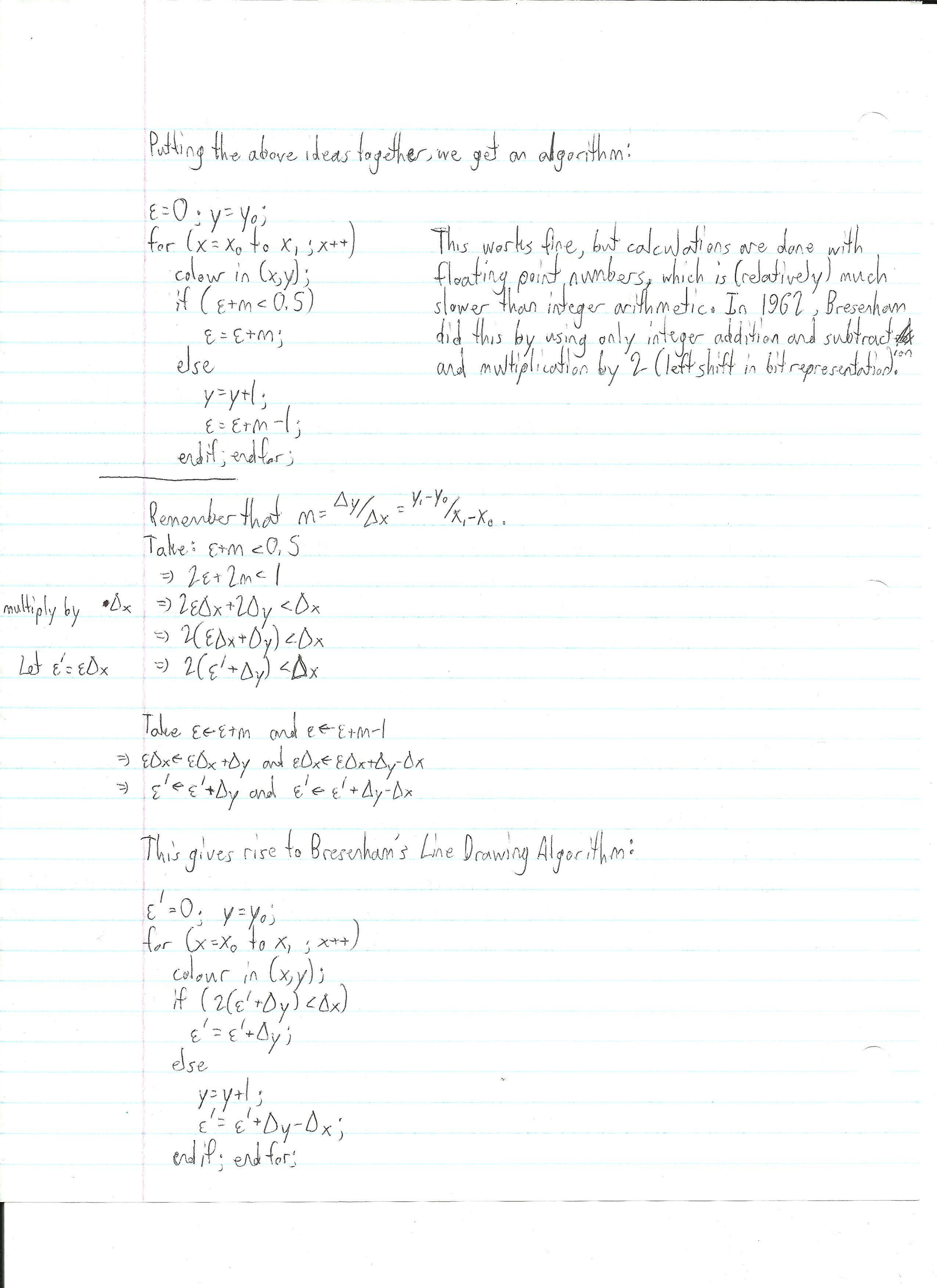 Bresenham Line Drawing Algorithm Time Complexity : Liviu mihai calin