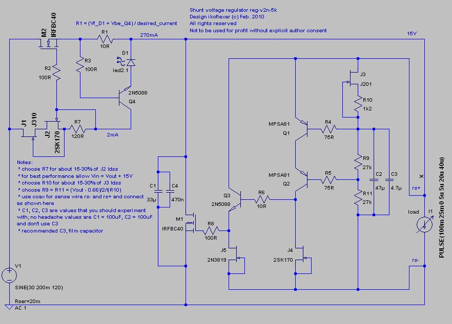 My take on a discrete shunt voltage regulator - Page 79
